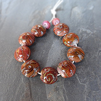 LoriandKim Beads - Russet Lentils