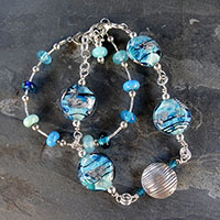 Double Aqua Bracelet